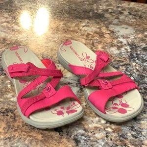 Merrell pink sandals size 7